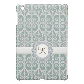Diamonds & Lace, Iced Blue Personalized IPad Cover