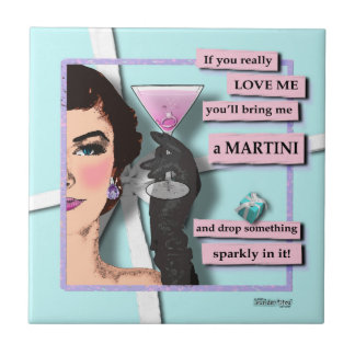 Diamonds & Martinis Coaster Tile