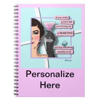 Diamonds & Martinis Notebook