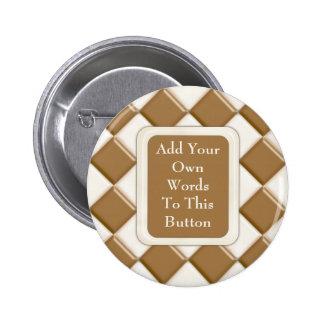 Diamonds - Milk Chocolate and White Chocolate Pinback Button