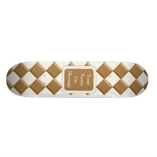 Diamonds - Milk Chocolate and White Chocolate Skateboard Deck