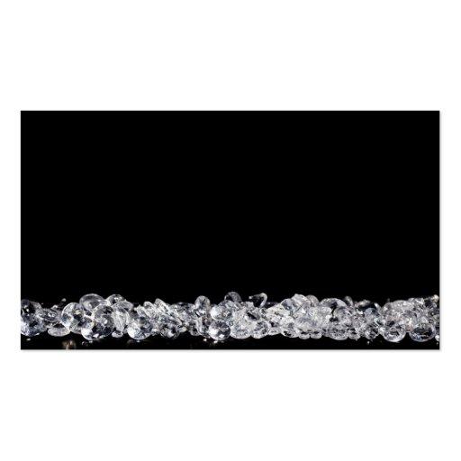 Diamonds on black background business card zazzle for Business card background black