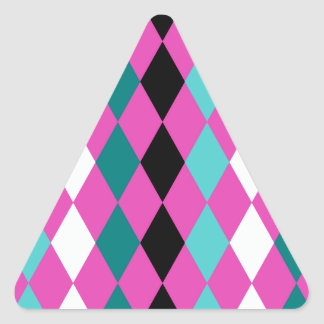 Diamonds on Pink Triangle Sticker