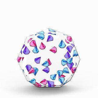 Diamonds pattern acrylic award