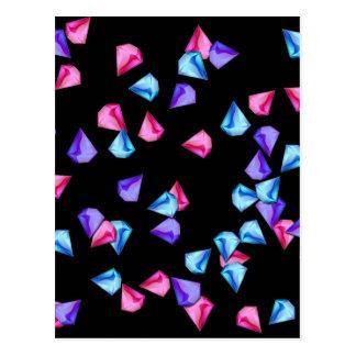 Diamonds pattern postcard