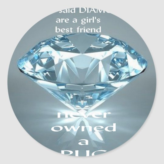 diamonds.png classic round sticker
