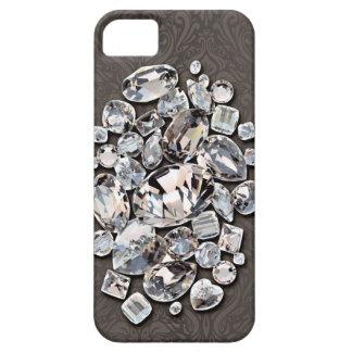 Diamonds Precious on beige mink taupe iPhone SE/5/5s Case