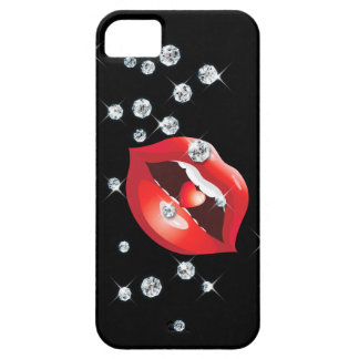 Diamonds & Red Lips Love iPhone SE/5/5s Case