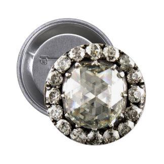 Diamonds Rhinestone Vintage Costume Jewelry Brooch Pin