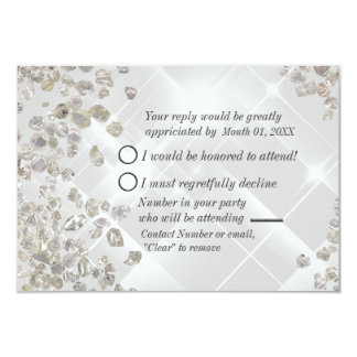 Diamonds RSVP Card