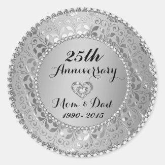 Diamonds & Silver 25th Wedding Anniversary