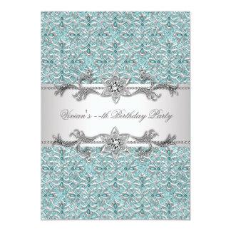 Diamonds Silver Blue All Occasion Party Invitation