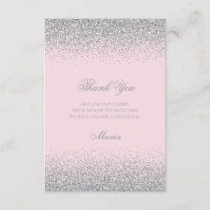Diamonds & Silver Glitter Thank You Cards