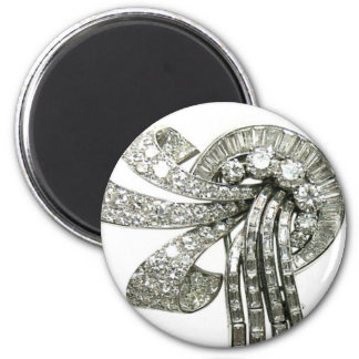 Diamonds Vintage Rhinestones Costume Jewelry Magnet