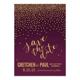 Diamonds Wedding Save the Date | aubergine Card