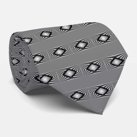 Diamonds With Stripes Ties. Neck Tie