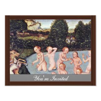 Diana And Actaeon By Cranach D. Ä. Lucas (Best Qua 4.25x5.5 Paper Invitation Card