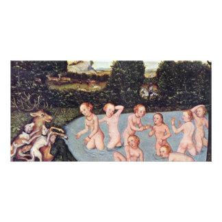 Diana And Actaeon By Cranach D. Ä. Lucas (Best Qua Customized Photo Card