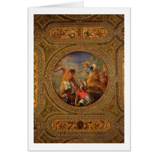 Diana and Actaeon, from the ceiling of the library Card