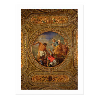 Diana and Actaeon, from the ceiling of the library Postcard
