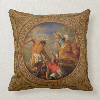 Diana and Actaeon, from the ceiling of the library Throw Pillow