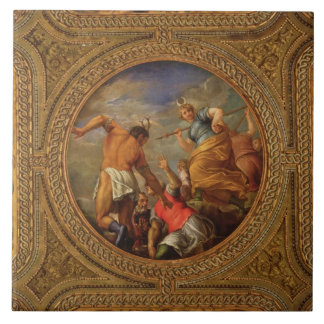 Diana and Actaeon, from the ceiling of the library Tile