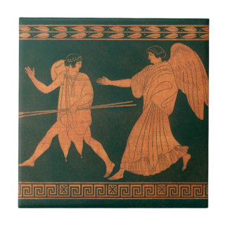 Diana and an Angel, Vintage Roman Mythology Tile