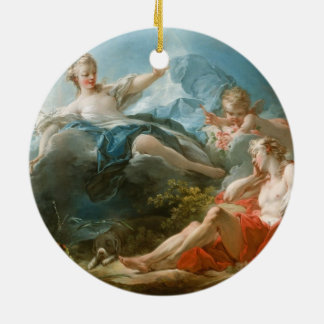 Diana and Endymion By Jean-Honoré Fragonard Ceramic Ornament