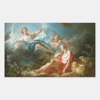 Diana and Endymion By Jean-Honoré Fragonard Rectangular Sticker