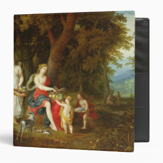 Diana and Her Maidens, after the hunt, 1626 3 Ring Binder