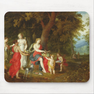 Diana and Her Maidens, after the hunt, 1626 Mouse Pad
