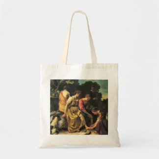 Diana and her nymphs by Johannes Vermeer Tote Bags