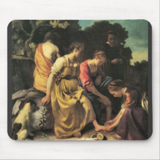 Diana and her nymphs by Johannes Vermeer Mouse Pad