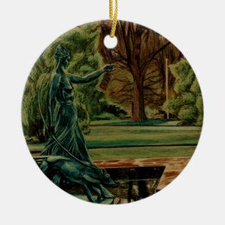 Diana Artemis Sculpture In Gardens Ceramic Ornament