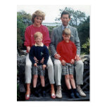 Diana Charles William Harry 1989 Postcard