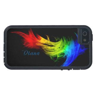 Diana coloreó la caja dura abstracta del iPhone 5 Funda iPhone SE/5/5s