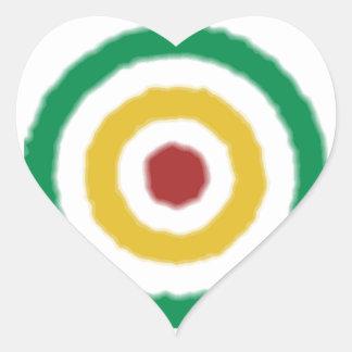 Diana de Rasta Pegatina Corazón Personalizadas