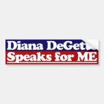 Diana DeGette habla para mí a la pegatina para el  Pegatina De Parachoque