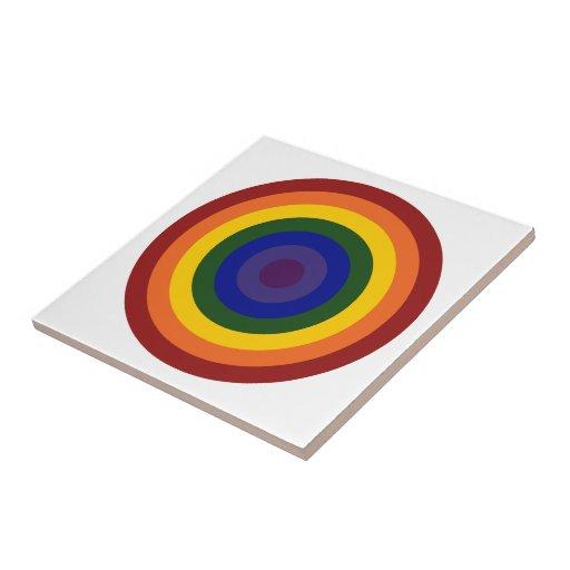 Diana del arco iris azulejo cuadrado pequeño
