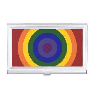 Diana del arco iris cajas de tarjetas de visita