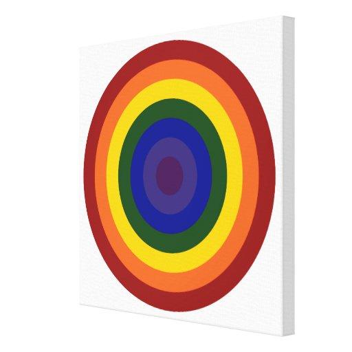 Diana del arco iris impresión en lienzo