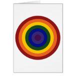Diana del arco iris tarjeta de felicitación