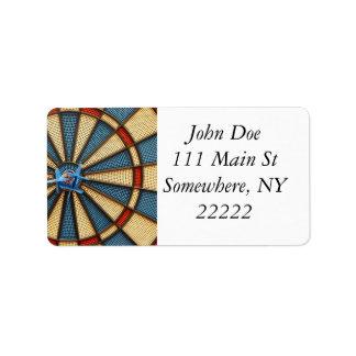 Diana del Dartboard Etiquetas De Dirección