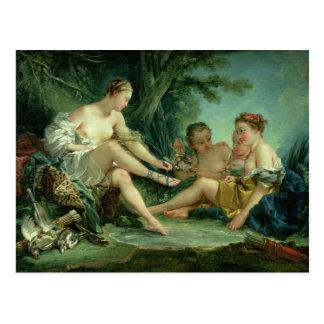 Diana después de la caza, 1745 postales