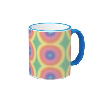 Diana en colores pastel enrrollada del arco iris taza