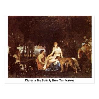 Diana en el baño de Hans Von Marees Tarjeta Postal