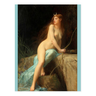 Diana - famous vintage paintings - Lefebvre Postcard