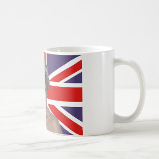 Diana flying the Flag Classic White Coffee Mug