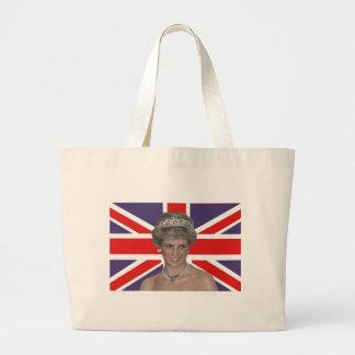 Diana flying the Flag Jumbo Tote Bag