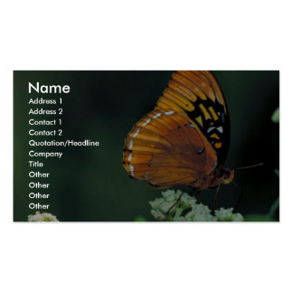 Diana fritillary on Wild quinine Double-Sided Standard Business Cards (Pack Of 100)